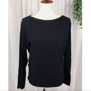 { Eileen Fisher } NWOT Black Ribbed Sweater